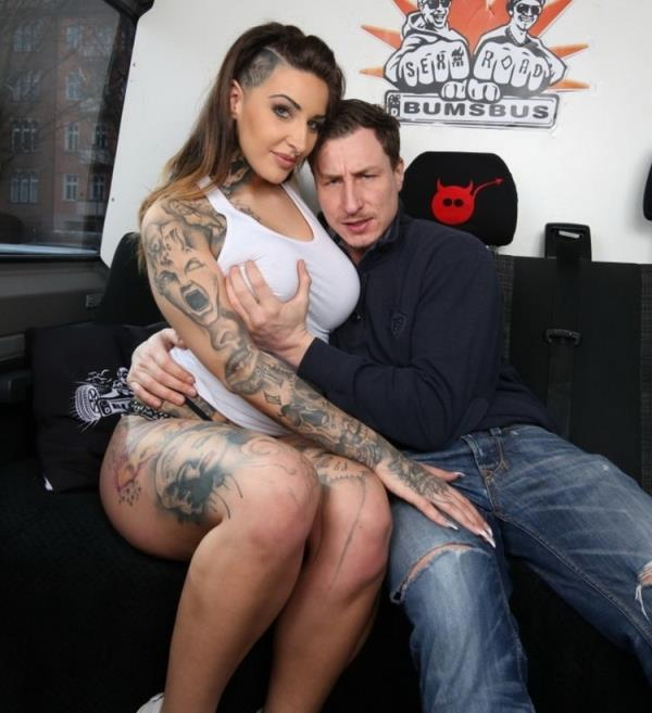 BumsBus / PornDoePremium: Wild Vicky - Voluptuous tattooed German Wild Vicky gets cum on tits in hot bus fuck (FullHD) - 2020