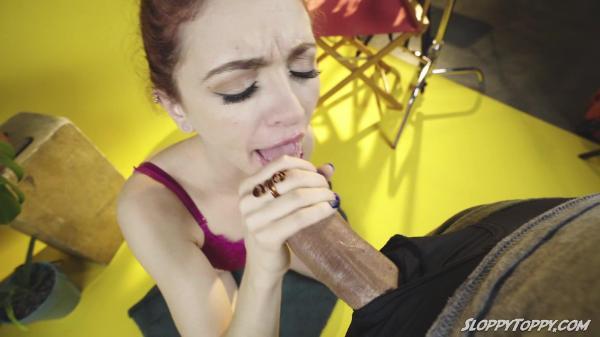 Sloppy Toppy – Lola Fae Sucks Uncut Cock